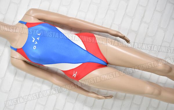MIZUNO ミズノ スコーパー OVALスポーツクラブ指定 女子競泳水着 ブルー・レッド