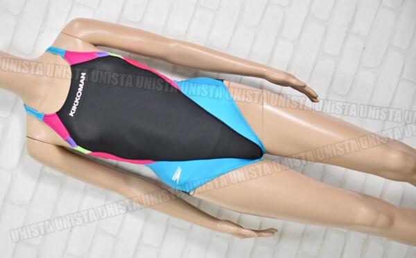 SPEEDO スピード スコーパー キッコーマンスイミングクラブ指定 女子競泳水着 ブラック・ブルー