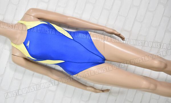SPEEDO スピード スコーパー 女子競泳水着 ブルー・蛍光イエロー mizuno期
