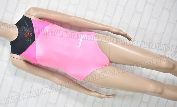 AIRMOVE エアムーブ 女子体操競技 ノースリーブレオタード ピンク・ブラック