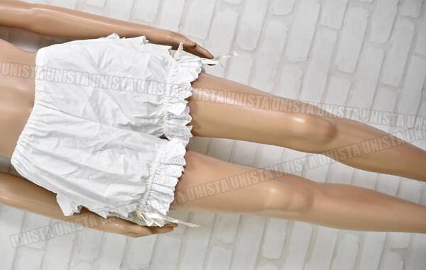 milky ange ミルキーアンジェ ショートパンツ型 パニエ・ペティコート フリルショートパンツ ホワイト