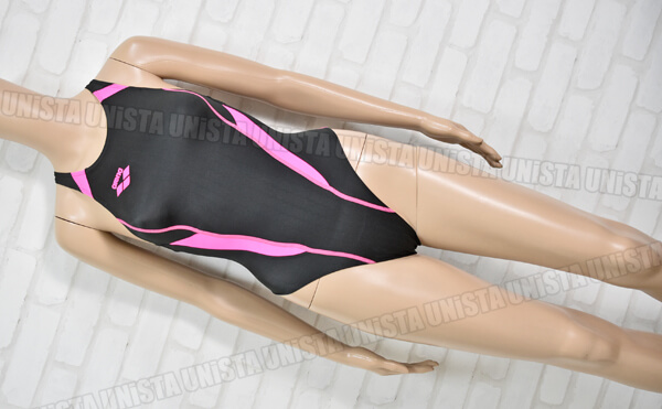ARENA アリーナ FAR-2507WC X-PYTHON RIMIC ハイカット FINA 女子競泳水着 ブラック・ピンク