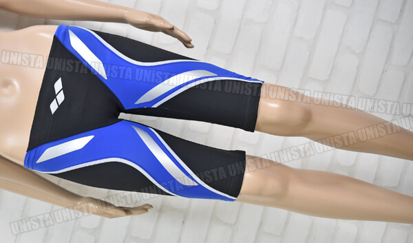 ARENA アリーナ FAR-9508M AQUAFORCE-FILM アクアフォースライト ハーフスパッツ 男子競泳水着 ブラック・ブルー