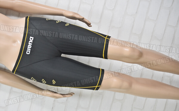 ARENA アリーナ SAR-1103 ストラッシュS マスターズSP ハーフスパッツ男子競泳水着 ブラック・ゴールド