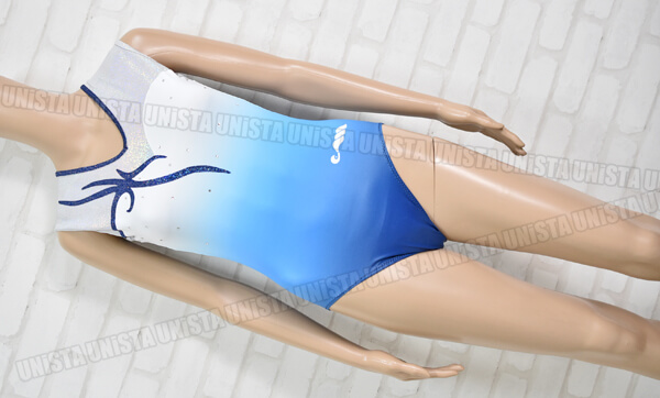 Christian MOREAU クリスチャンモロー CM468184 女子体操競技 ノースリーブレオタード グラデーションブルー