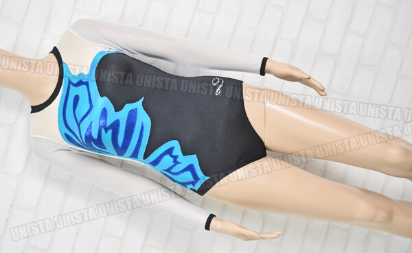 Dreamlight Activewear ドリームライト 女子体操競技 ロングスリーブレオタード ホワイト・ブルー