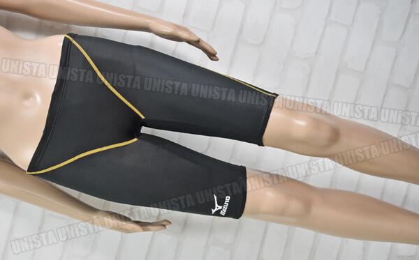 MIZUNO ミズノ 85RE-100 MIGHTYLINE2 マイティライン2 FINA男子競泳水着 ブラック・ゴールド
