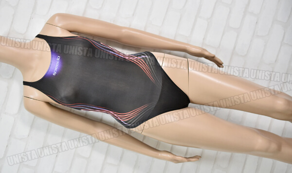 SPEEDO スピード AQUABLADE-Σ アクアブレードシグマ マーキュライン ハイカット女子競泳水着 ブラック