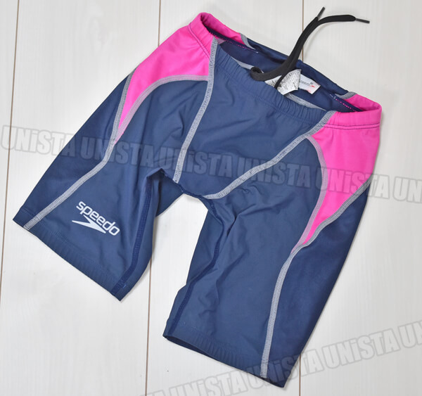 SPEEDO スピード SD60C51 FAST SKIN XT HYBRID ハーフスパッツ FINA 男子競泳水着 ネイビー・ピンク
