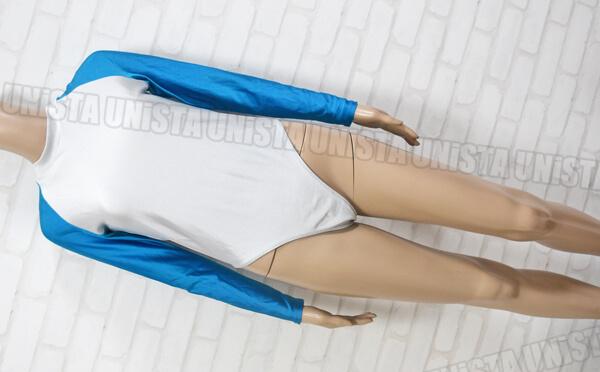 2WAY ツーウェイ 女子体操競技 ロングスリーブレオタード ライトブルー・シルバー