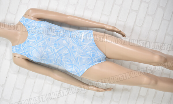 AIRMOVE エアムーブ 女子体操競技 ノースリーブレオタード ライトブルー 総柄
