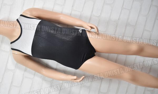 ALPHA FACTOR アルファファクター aerials PS1100 女子体操競技 ノースリーブレオタード ブラック・グレー