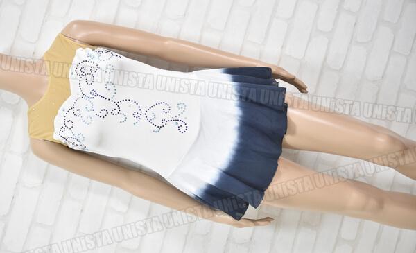 ICE FAIRY アイスフェアリー 女子フィギュアスケート・アイススケート競技用レオタード ベージュ・ホワイト