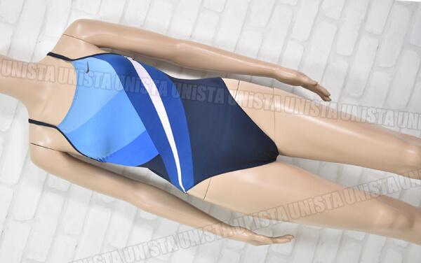 NIKE ナイキ ハイレグ 女子競泳水着 ネイビー・ライトブルー