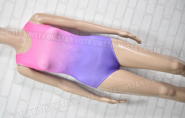 VOGUE 女子体操競技 ノースリーブレオタード ピンク・パープルグラデーション