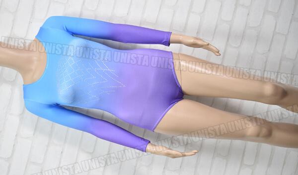 VOGUE 女子体操競技 ロングスリーブレオタード ブルー・パープルグラデーション