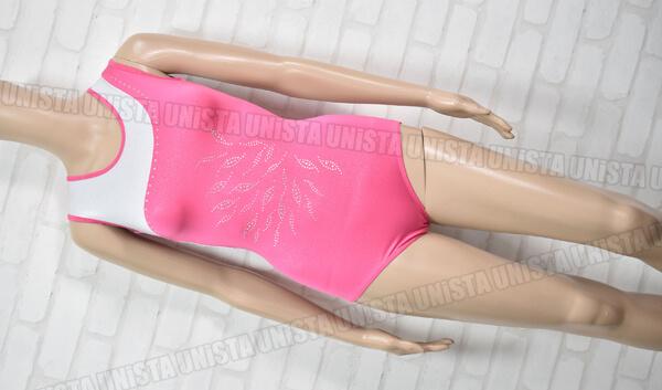 VOGUE 女子体操競技 ノースリーブレオタード ピンク・ホワイト