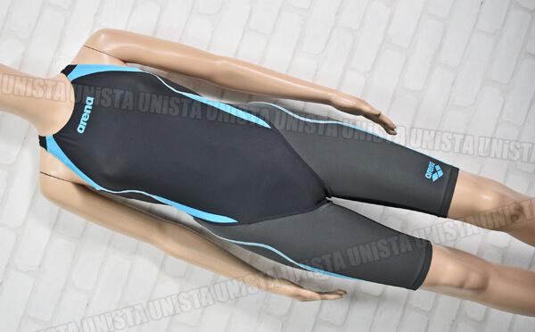 ARENA アリーナ AQUA-HYBRID アクアハイブリッド UROKOSKIN ウロコスキン アクアフォースST ハーフスパッツ FINA 女子競泳水着 ブラック