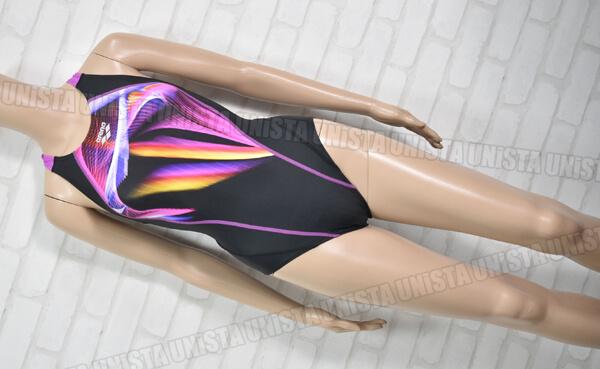 ARENA アリーナ ARN-9061W UROKOSKIN ウロコスキン SAFELYBACK FINA 女子競泳水着 ブラック・パープル