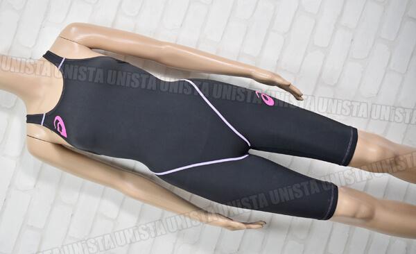 ASICS アシックス ALS529 3CSKIN-H TOP IMPACT LINE W'S SOLID-1 ハーフスパッツ FINA 女子競泳水着 ブラック・ピンク