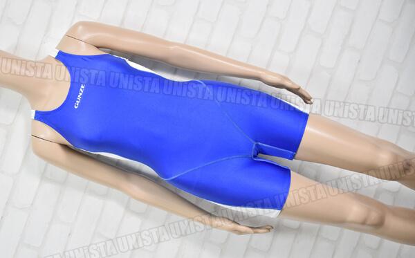 小松ニット GUNSE グンゼスポーツクラブ指定 レーサーバック型 ショートスパッツ女子競泳水着 ブルー