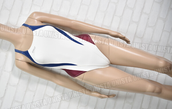SPEEDO スピード XOバック型 ハイカット 女子競泳水着 ホワイト mizuno期