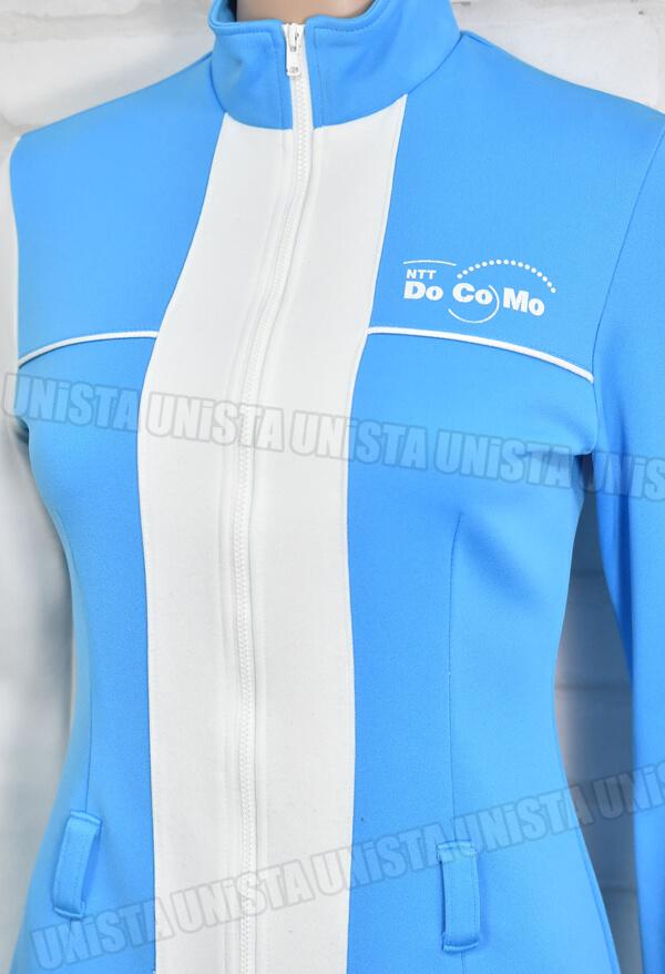 NTT DOCOMO ドコモ キャンペーンガール衣装・制服 ホワイト・ブルー 胸元UP