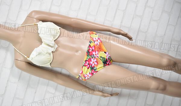 Angel Luna エンジェルルナ フリルワイヤービキニ・リゾート水着 オフホワイト・花柄