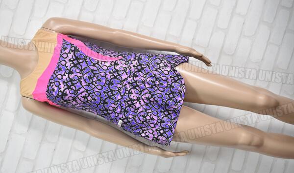 SASAKI ササキスポーツ NO.7002 女子新体操競技 ノースリーブレオタード パープル・ピンク