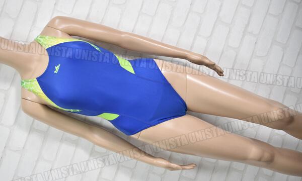 YINGFA インファー XOバック型 女子競泳水着 ブルー・グリーン