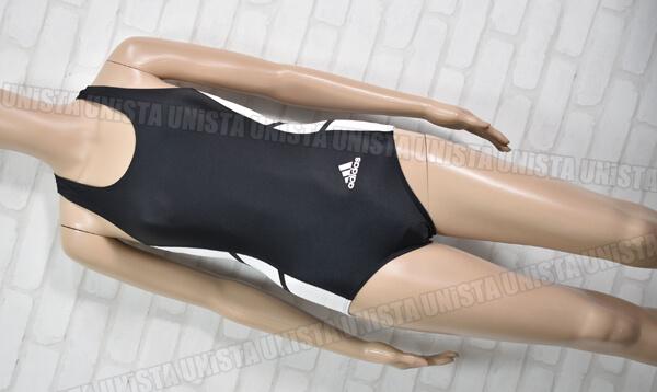 adidas アディダス 710664W 女子陸上レーシングレオタード ブラック・ホワイト