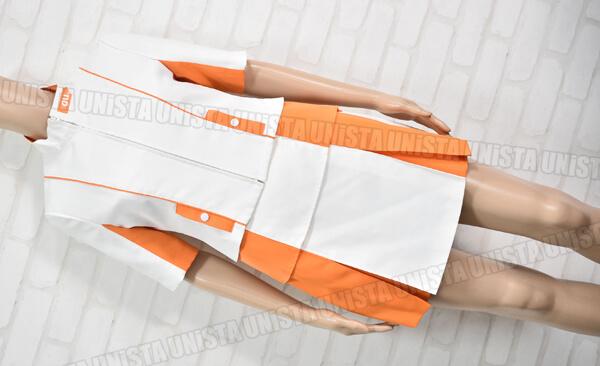 正規品 au by KDDI エーユー キャンペーンガール衣装・企業制服 ホワイト・オレンジ1