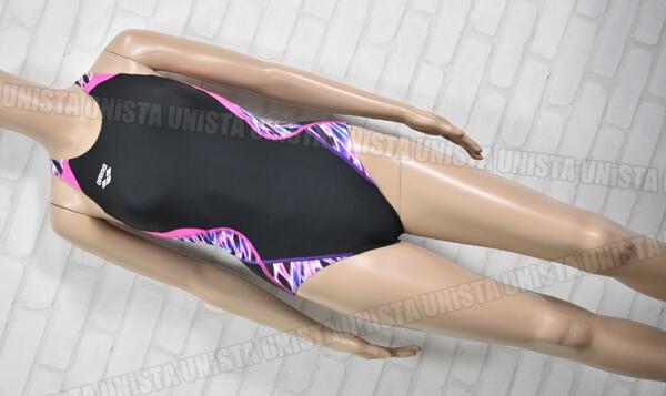 ARENA アリーナ ARN-8057W AQUA RACING UROKOSKIN ウロコスキン 着やストラップ FINA 女子競泳水着 ブラック・パープル