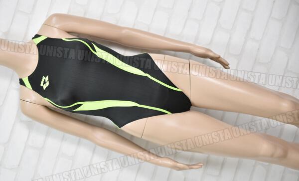 ARENA アリーナ FAR-2507WC X-PYTHON エックスパイソン RIMIC ハイカットFINA女子競泳水着 ブラック・グリーン