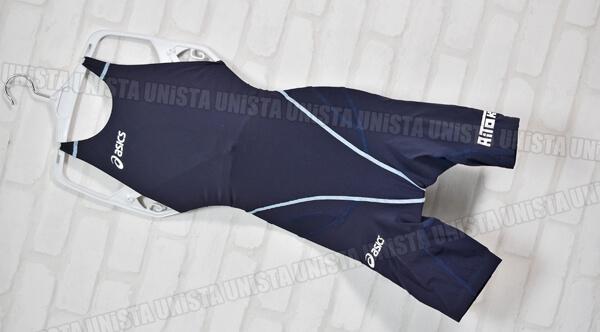 ASICS アシックス AGS519 TOP iMPACT LINE 3C-SKIN FINA ハーフスパッツ 女子競泳水着 ネイビー