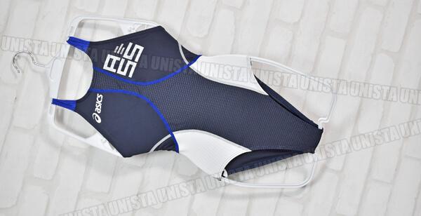 ASICS アシックス ALS344 TLINER ARROWAVE HYDRO SP ハイドロSP FINA ハイカット 女子競泳水着 ネイビー・ブルー