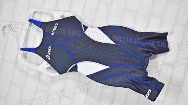 ASICS アシックス ALS55A HYDRO SP ハイドロSP ARROWAVE FINA ハーフスパッツ女子競泳水着 ネイビー・ブルー