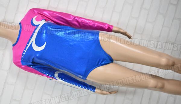TEMA TURN TT GYMNASTICS 女子体操競技 ロングスリーブレオタード ブルー・ピンク