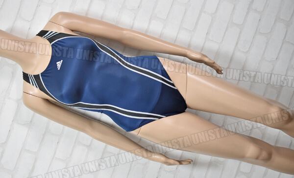 adidas アディダス JD1018 3STRIPES ツルテカ素材 女子競泳水着 ネイビー・ブラック