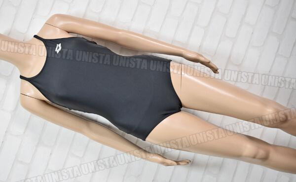 ARENA アリーナ ARN-185W 黒パイピングワンピース水着・女子競泳水着 ブラック