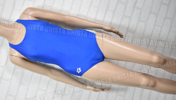 ARENA アリーナ OAR-S001W カスタムオーダー品 ニューフローバック 女子競泳水着 ブルー・イエロー
