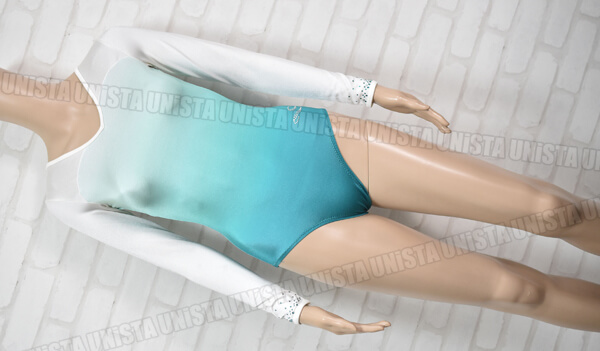 Dreamlight Activewear ドリームライト 女子体操競技 ロングスリーブレオタード グラデーショングリーン