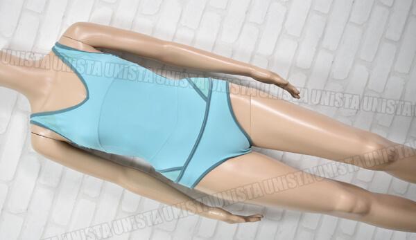 adidas アディダス stella mccartney ステラマッカートニー ワンピース水着 ライトブルー