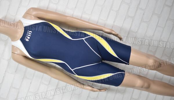 oasis 東急オアシススイミングクラブ指定 ハーフスパッツ型 女子競泳水着 ネイビー