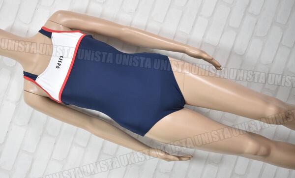oasis オアシススイミングクラブ指定 女子競泳水着 ネイビー・ホワイト