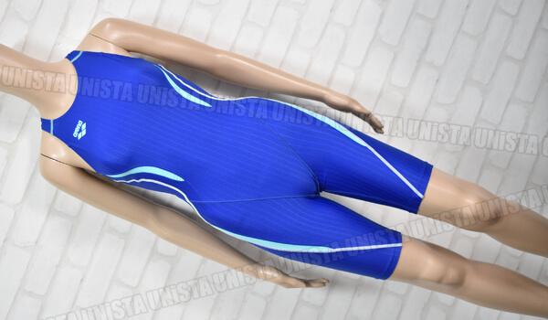 ARENA アリーナ ARN-7050W UROKOSKIN-ST ウロコスキンST 着やストラップ FINA ハーフスパッツ 女子競泳水着 ブルー