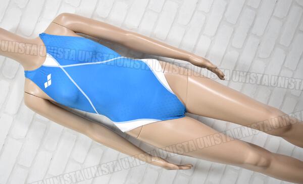 ARENA アリーナ OAR-4504W aile-bleue エールブルー ハイカット 女子競泳水着 ライトブルー