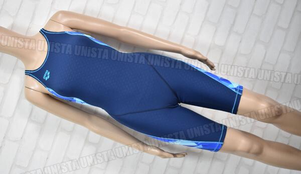 ARENA アリーナ SAR-0127WB TOUGHSUIT タフスキンストレッチ ハーフスパッツ 女子競泳水着 ネイビー・ブルー