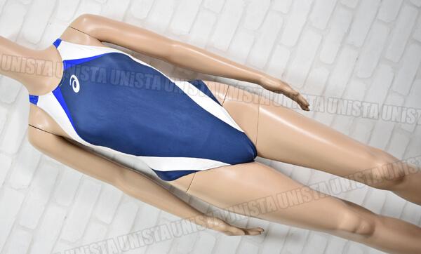 ASICS アシックス ALS86T HYDRO CD ハイドロCD 女子競泳水着 ネイビー・ホワイト
