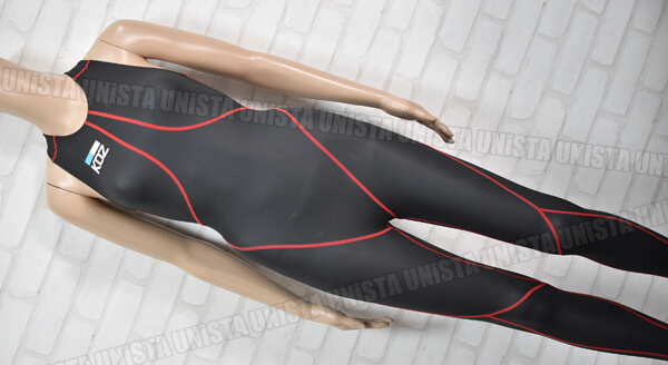 KOZ コズ KOZ-925 バイオラバー ロングスパッツ水着・女子競泳水着 ブラック・レッド